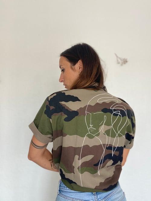 """Image of Chemise militaire """" la femme """""""
