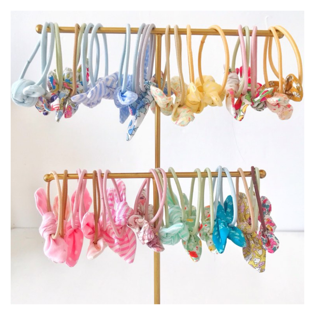 Image of Lucky Dip Mini Knotted Hair Bow Pairs