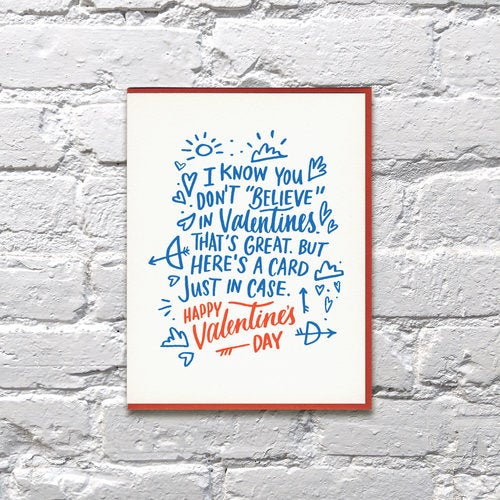 Image of Just in Case Valentines Day Card