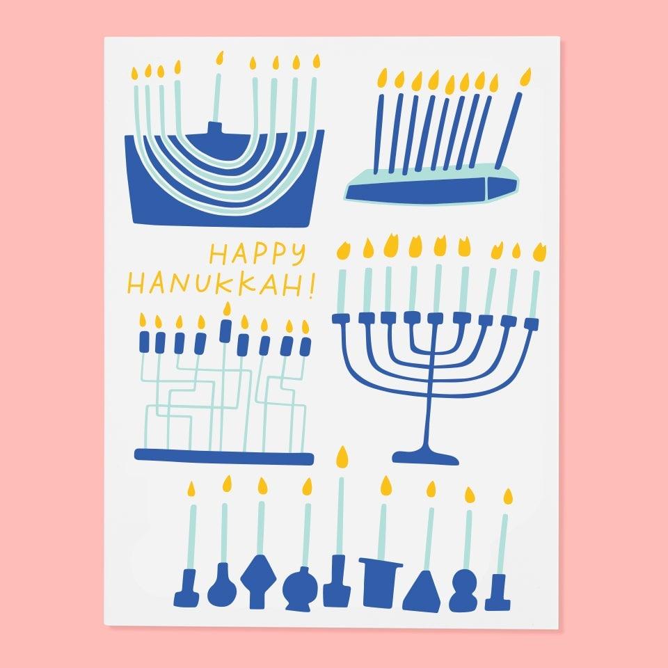 Image of Hanukkah Menorah Card