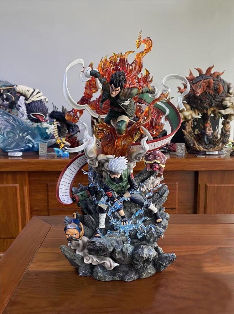 Image of [Last-Stock]Naruto Surge Studio Kakashi & Night Guy 1:7 Resin Statue