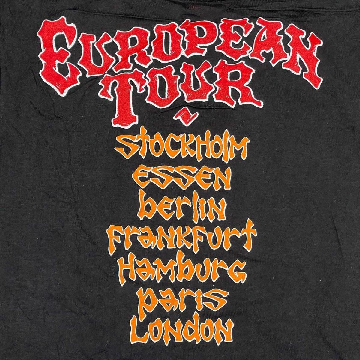 Original RARE Vintage Grateful Dead Europe 1990 Rick Griffin Tee!! Medium!!!
