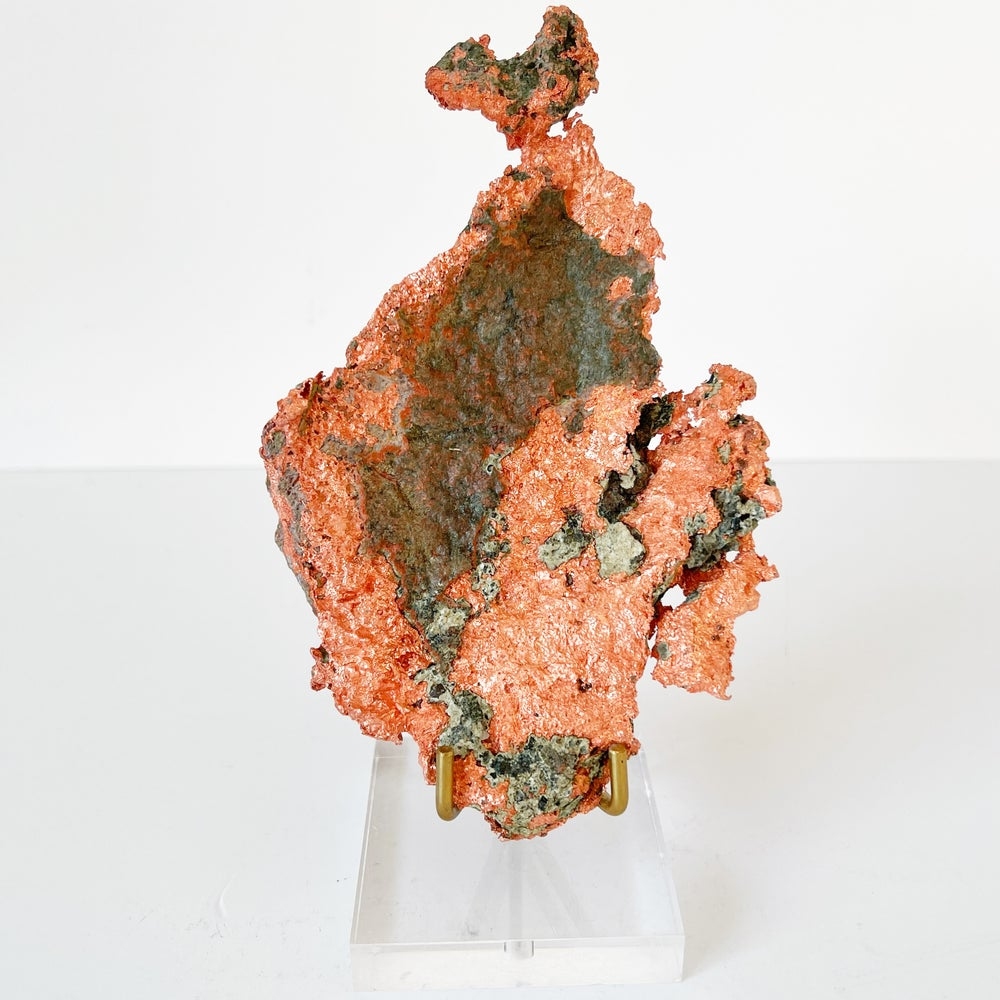 Image of Native Copper no.101 + Lucite and Brass Stand