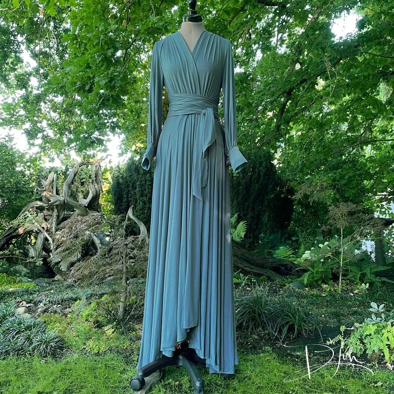 """Image of Blue Slate """"Bev"""" Dressing Gown"""