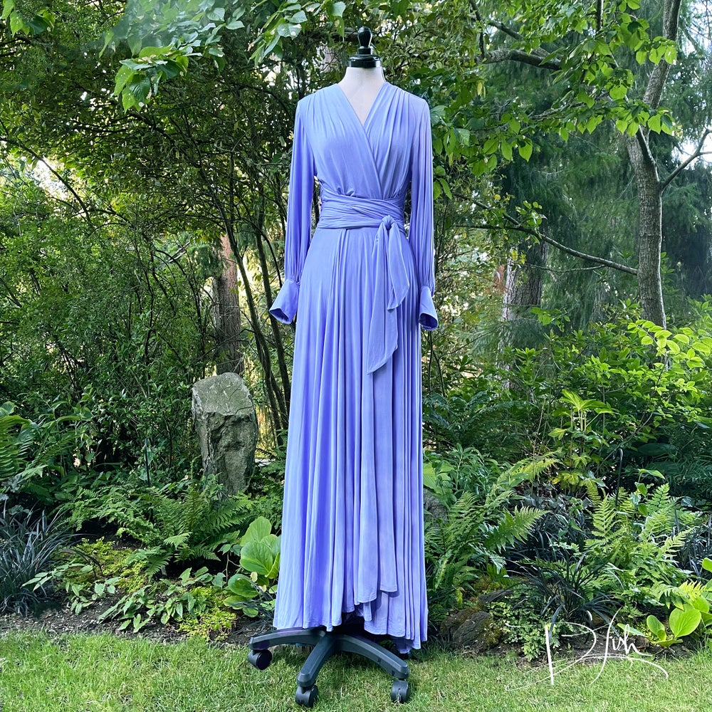 """Image of Barely Periwinkle """"Bev"""" Dressing Gown"""