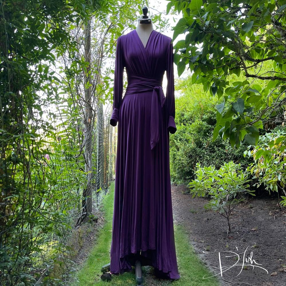 """Image of Deep Purple """"Bev"""" Dressing Gown"""