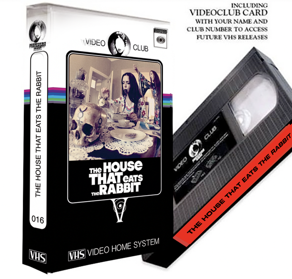 Image of The House That Eats The Rabbit VIDEO CLUB VHS + DVD (Limited 15)