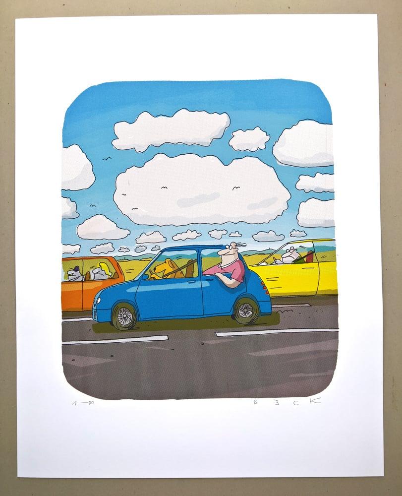 Image of Der Beifahrer (ein Siebdruck)