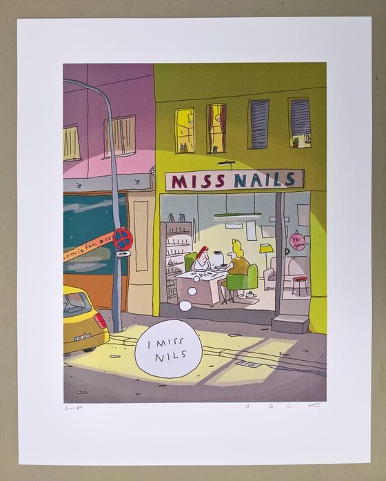 Image of Miss Nails (ein Siebdruck)