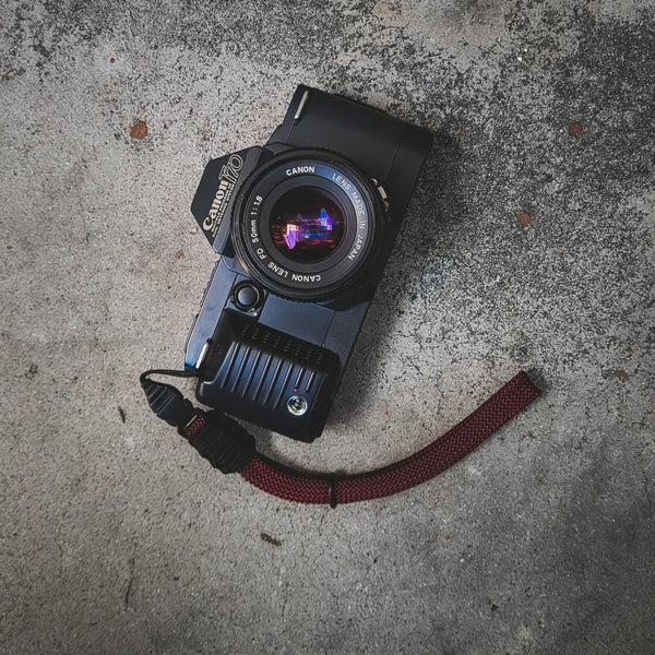 Image of Rope wrist strap w/ optech qd attachment