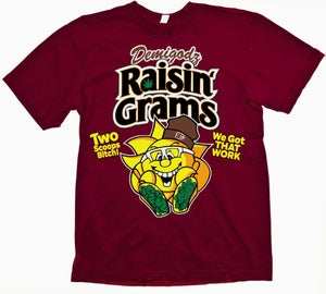 Image of Raisin Grams T-Shirt - Cardinal Red Tee