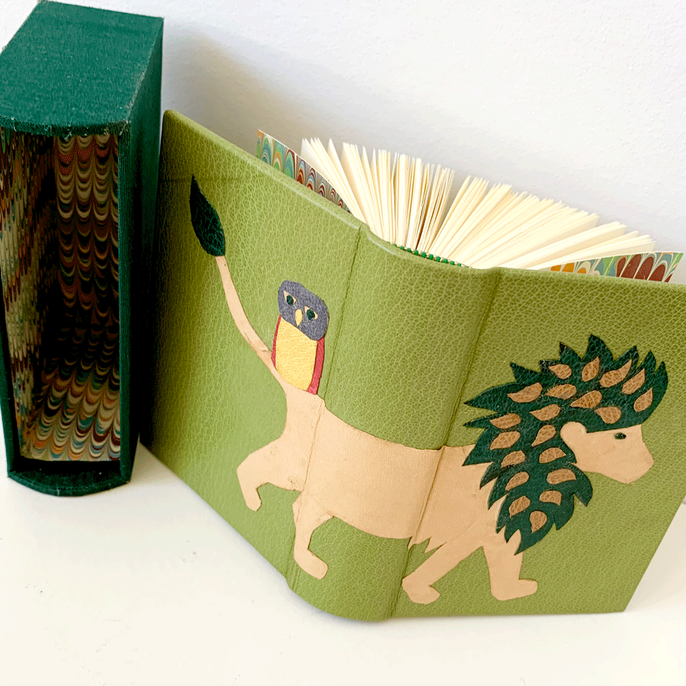 Image of Miniature Leather Book, matching Slipcase and Onlays - 15th, 22nd, 29th October (6.30 - 9.15pm)