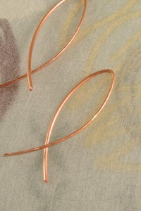 Image of Ichthys I earrings in copper