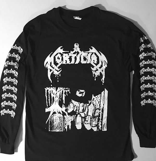 """Image of Mortician """" Demo """" Long Sleeve T shirt"""