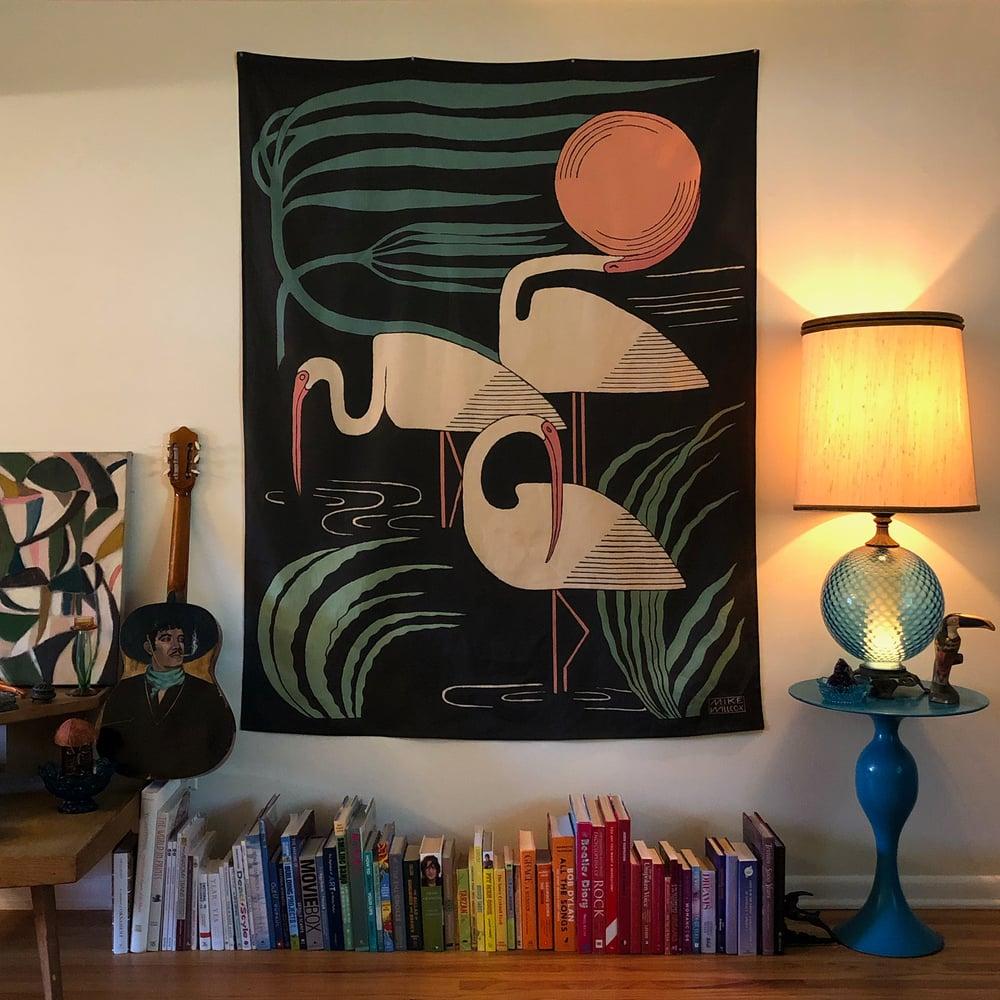 Image of Ibis & Hurricane Tapestry - Linen