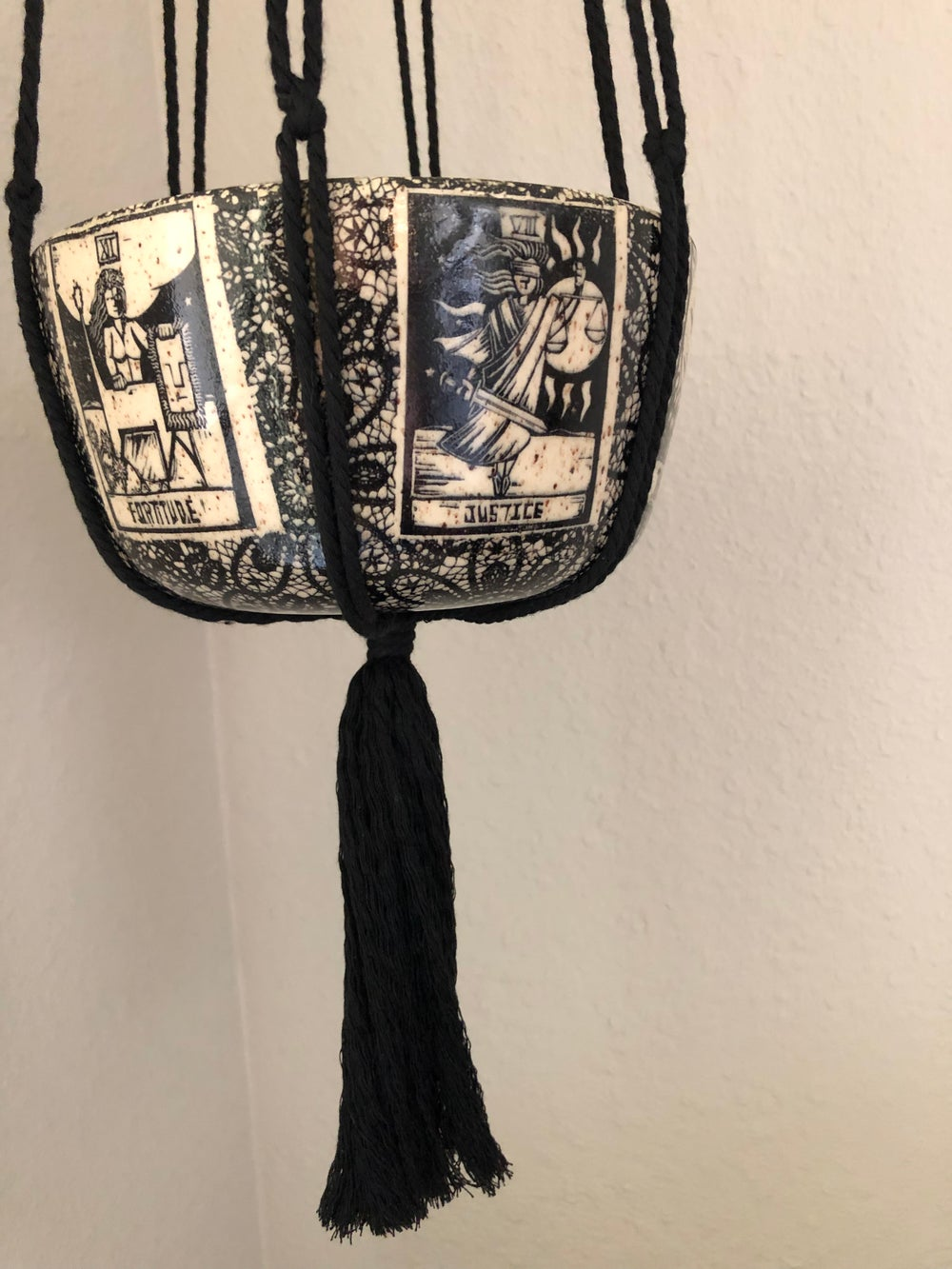 Tarot and Lace Hanging Planter