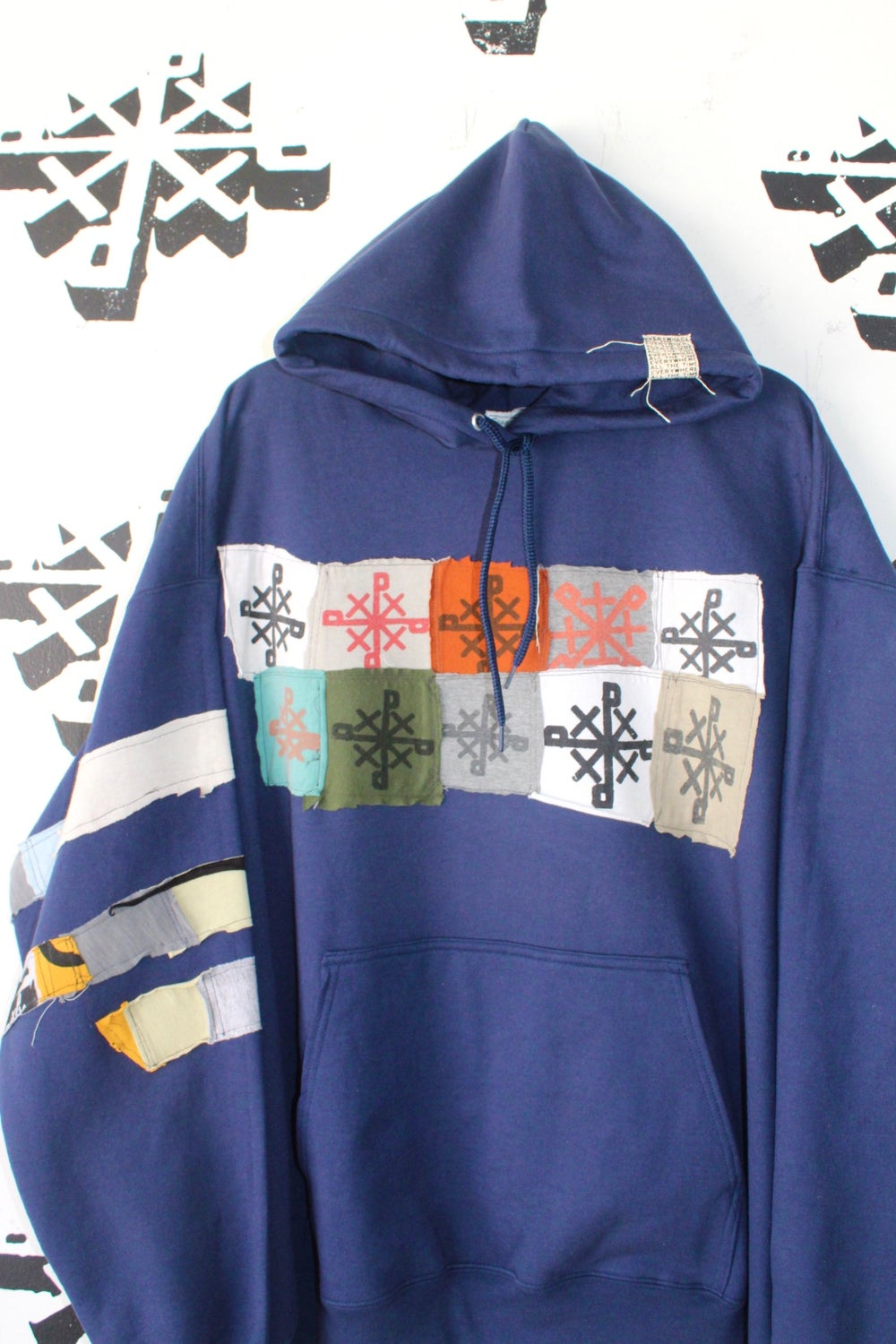 pieces and parts hoodie in navy