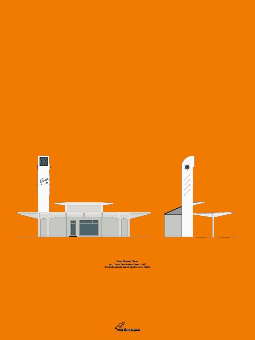 Gasolinera Gesa (fondo color)
