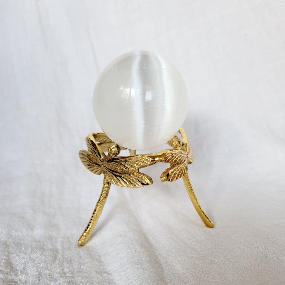 Image of DRAGONFLY SPHERE STAND - Gold