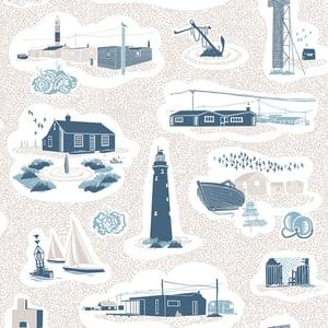 Image of Dungeness Wallpaper - Washed Denim