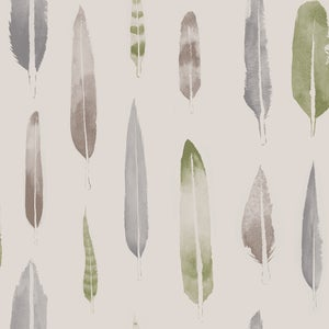 Image of Feathers Wallpaper - British Lichen
