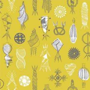 Image of Equinox Wallpaper - Mustard