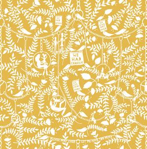 Image of We Had Everything Wallpaper - Mustard