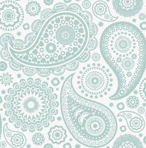 Image of Paisley Crescent Wallpaper - Pale Verdigris