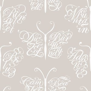 Image of Camberwell Beauty Wallpaper - Stone