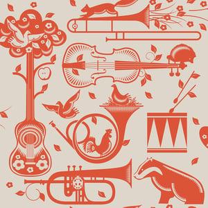 Image of Pet Sounds Wallpaper - Harvest Orange