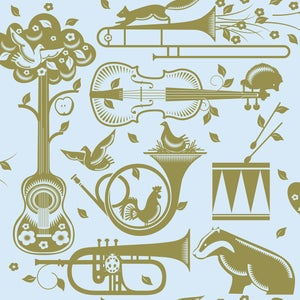 Image of Pet Sounds Wallpaper - Powder Paint Blue