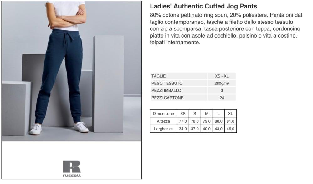 NEW LADIES' CUFFED JOG PANTS RUSSEL
