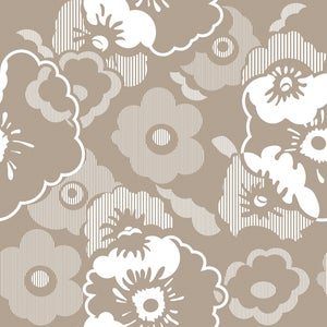 Image of Alice Wallpaper - Weathered Cedar