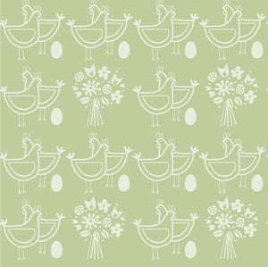 Image of Six of One Wallpaper - Pear Green