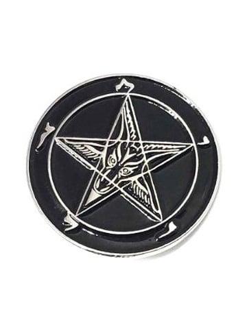 Image of MYSTICUM LUNA Satan's Signet Baphomet Pin