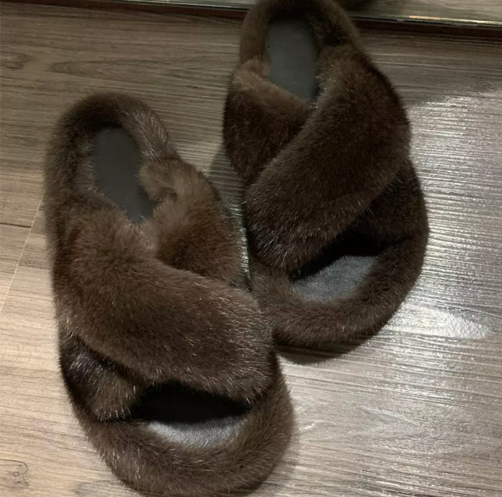 Image of MINK SLIPPERS
