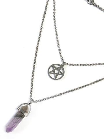 Image of MYSTICUM LUNA Pentacle Layer Necklace