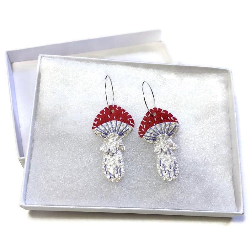 Image of Toadstool Earrings