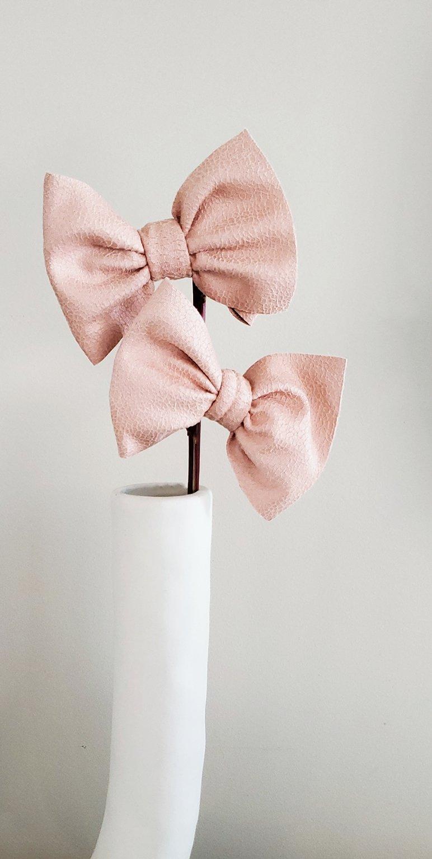 Image of Pink pleather piggies