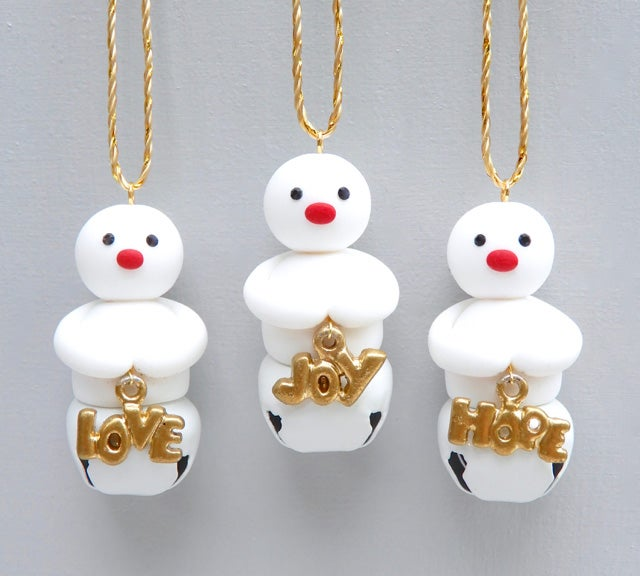 Image of New 2021 Mini Jingle Snowmen with Joy, Love, Hope - Limited Editions 😍😀😇