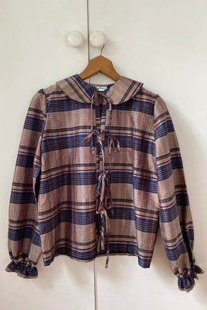 Plaid Silk Dupion Shirt
