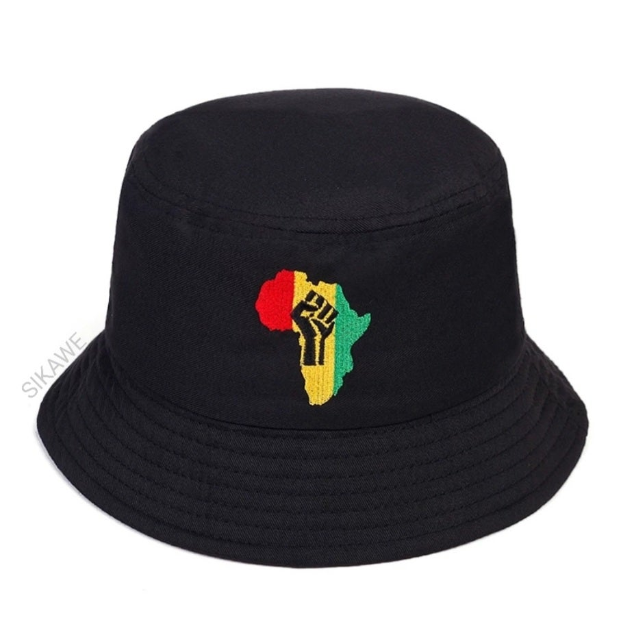 Image of POWER FIST EMBROIDERED BUCKET HAT