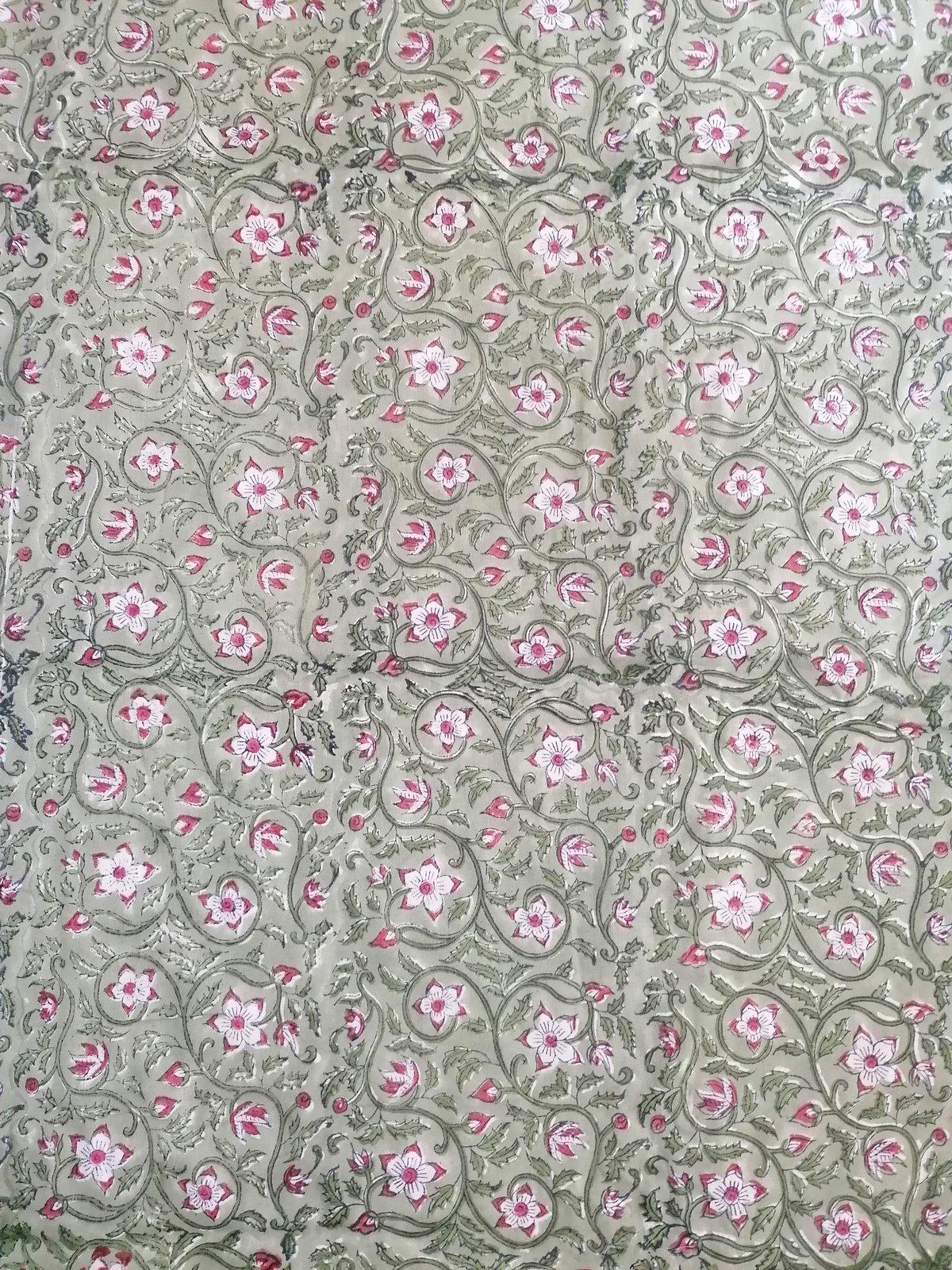 Image of Namasté fabric vert