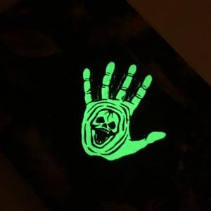 Enamelled Skullhand + Eyeball Pin Badge Set