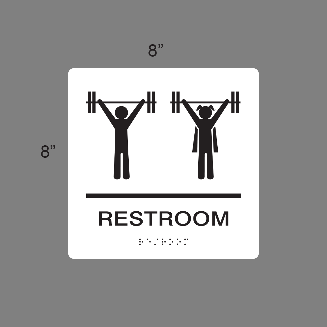 Image of Restroom unisex braille signage