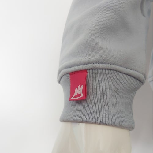 Image of Grey on Blue Big Banner Hood