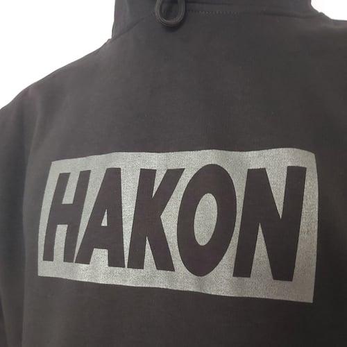 Image of Grey on Black Big Banner Hood