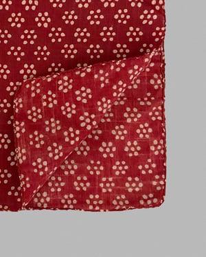 Image of Block Print Bandana - Red Dot Flower