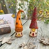 Mini Woodland Houses with Flowers