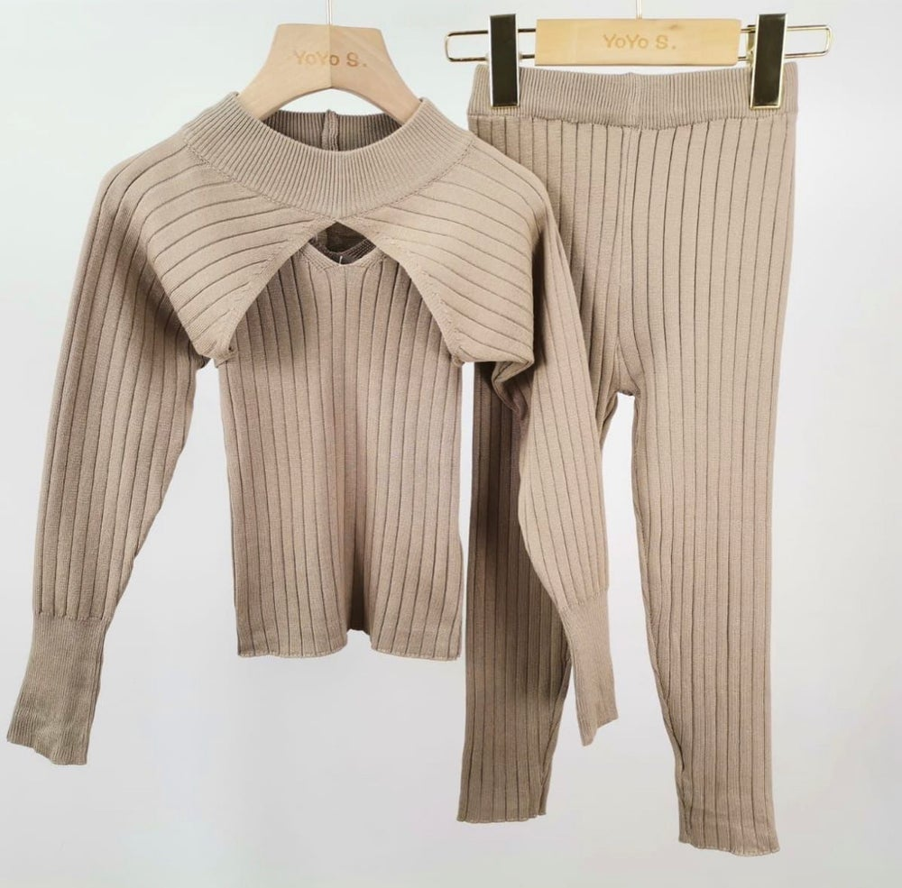 Image of Khaki Ribbed Outfit